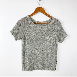 Madewell short sleeve knit sweater
